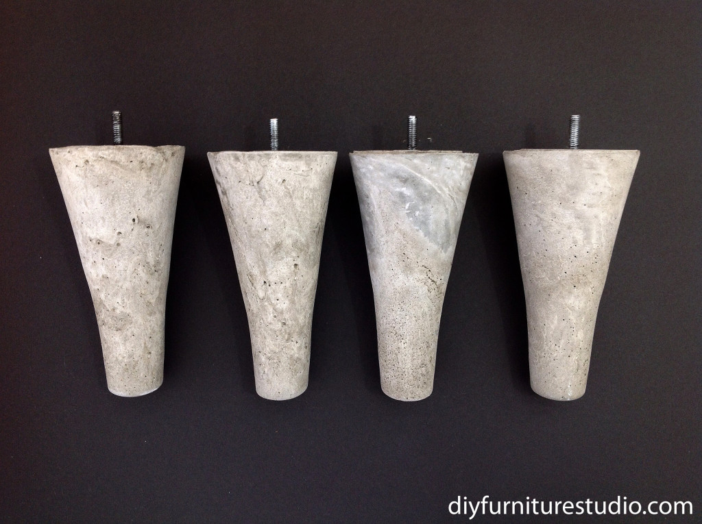 DIY cement sofa legs for IKEA and other brands.