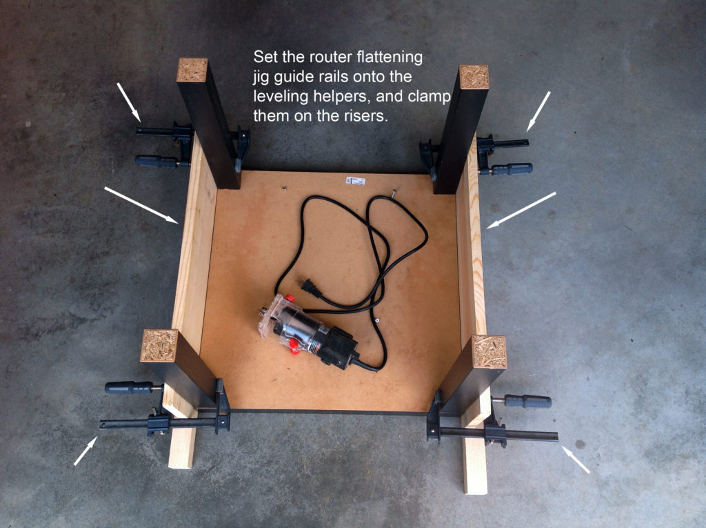 router flattening jig assembly for wood