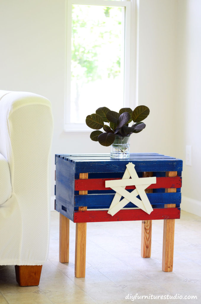 Make an Easy Crate Side Table.