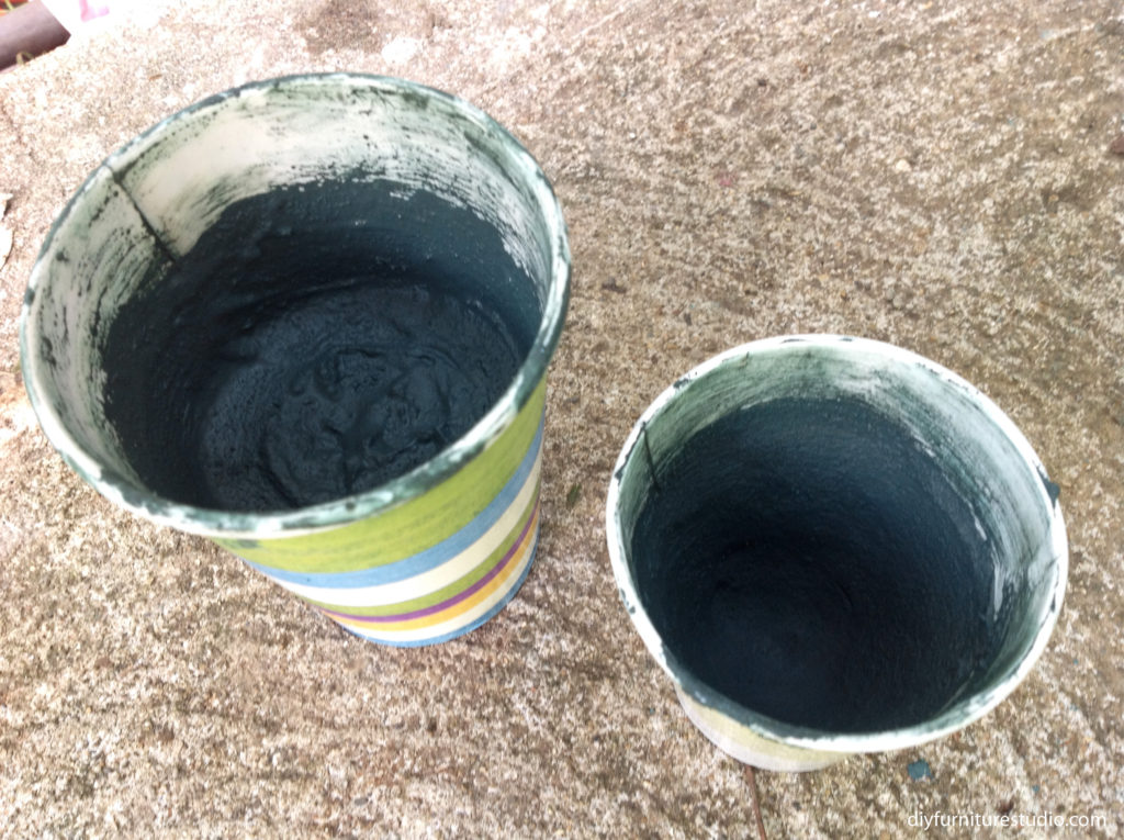 making colorful DIY cement decor