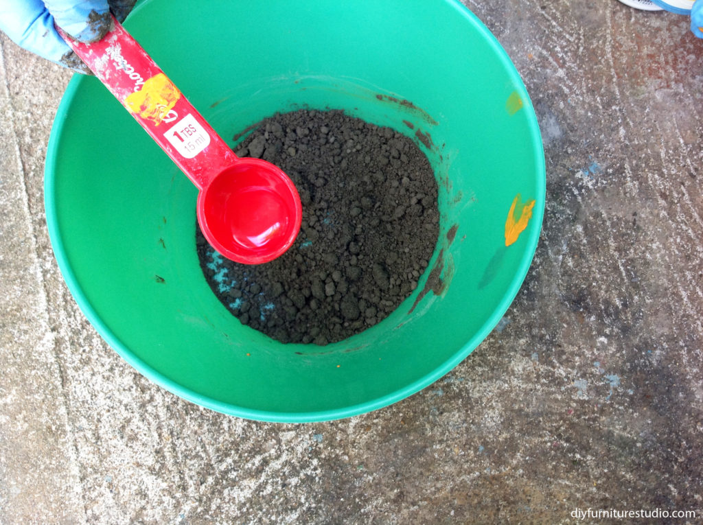 adjusting water content of cement mix