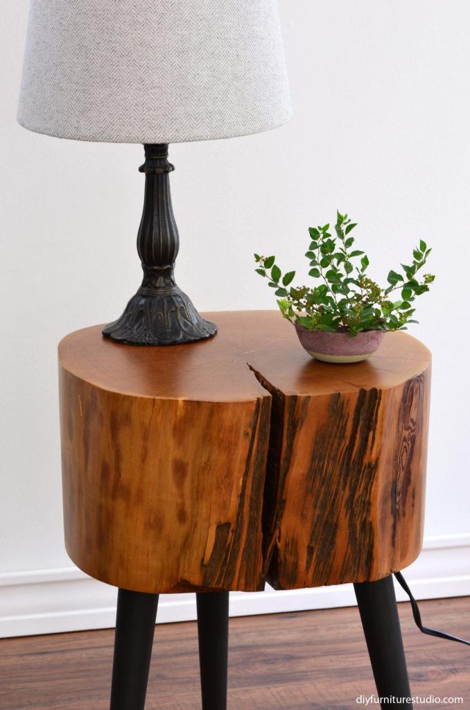 DIY furniture legs--modified Waddell brand mid-century modern legs by DIY Furniture Studio.