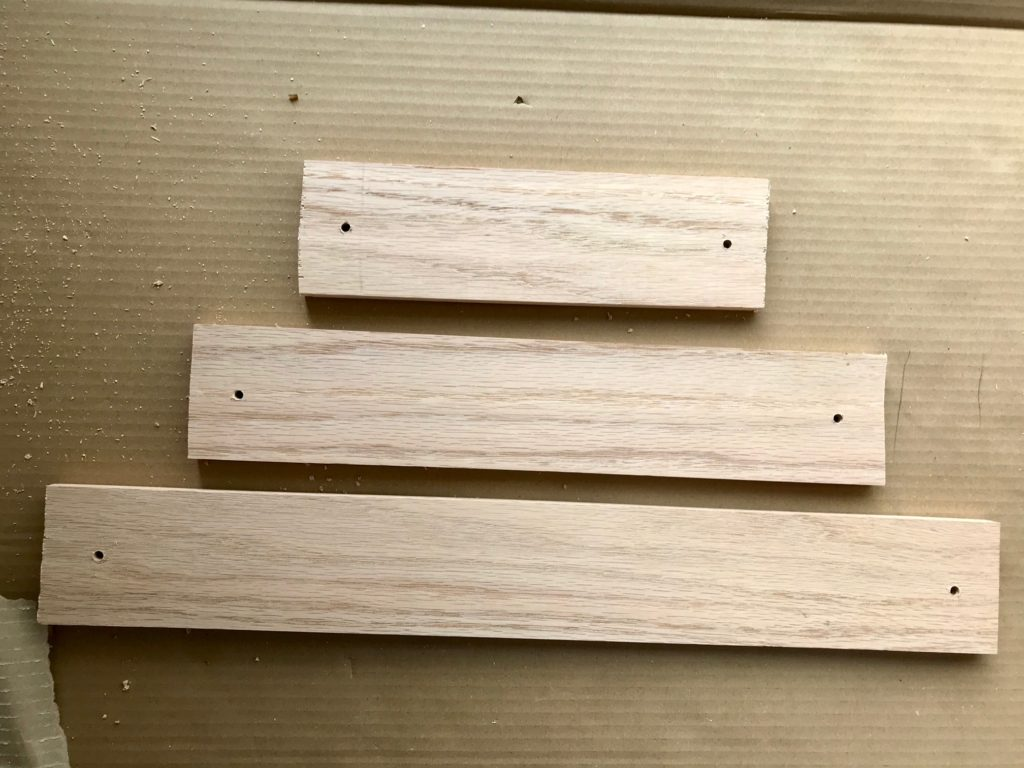 Making a Christmas Tree Wall Shelf Unit.